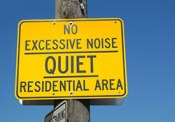 No Excessive Noise sign
