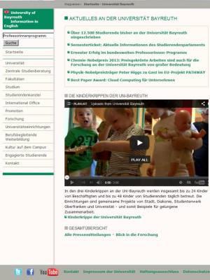 Uni Bayreuth_Startseite