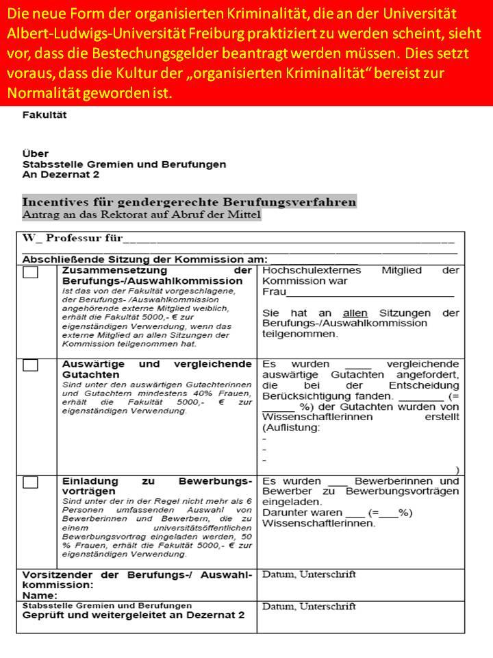 entscheidungen über berufungen uni freiburg