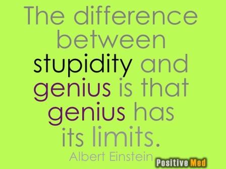 """Bereits Einstein erkannte die Unbegrenztheit der Ressource """"Dummheit"""""""