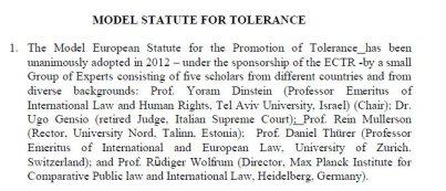 Statue of tolerance