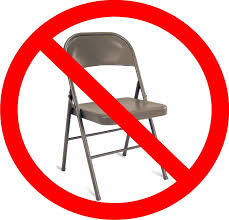 no chair