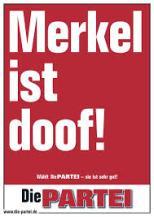 Die Partei Merkel ist doof