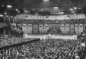 Goebbels beim Schubsen