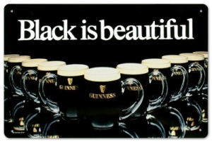 Guinness black is beautiful
