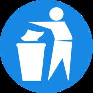 rubbish in bin
