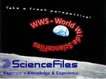 WWS ScienceFiles