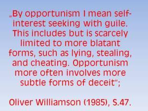 Williamson_Opportunism