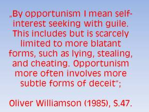 Williamson_Opportunism
