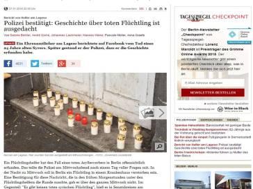 Tagesspiegel toter Fluechtling