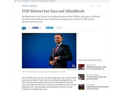 FDP hochrechnen