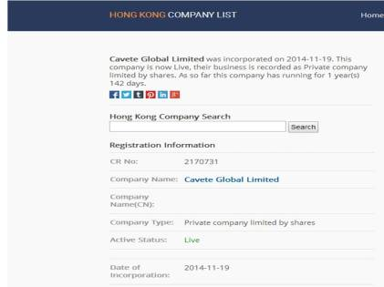 Cavete global limited