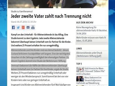 ARD Schmierenjournalismus Vaeter