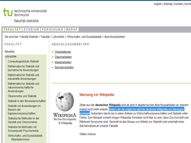 TU Dortmund Kraemer Wikipedia